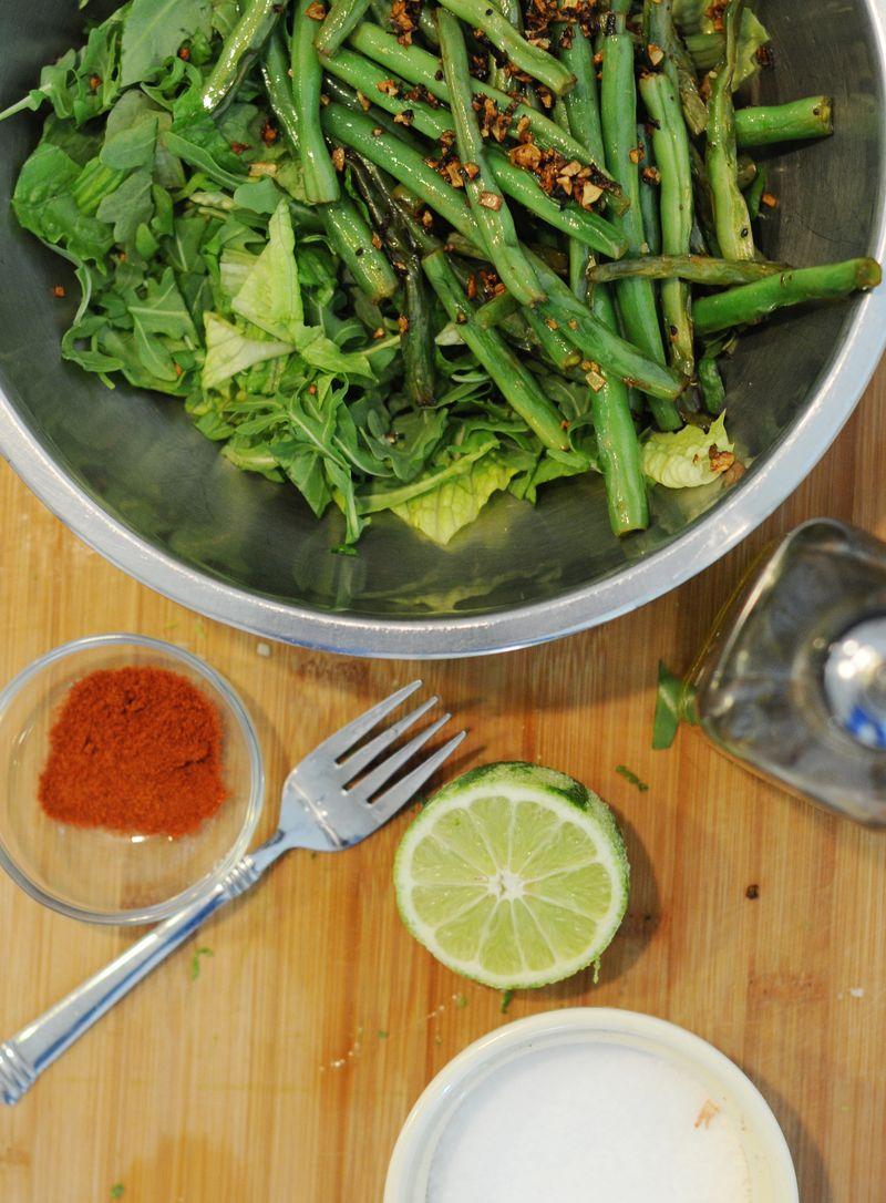 Garlic-green-bean-salad-lime-vinaigrette
