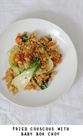 Fried-couscous-vidalia-spring-onions-baby-bok-choy