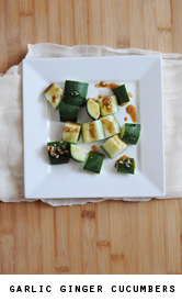 Garlic-ginger-cucumbers