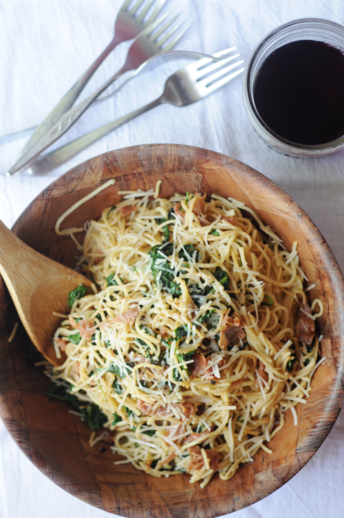 Pasta-greens-proscuitto