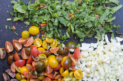 Fennel-swiss-chard-heirloom-tomatoes