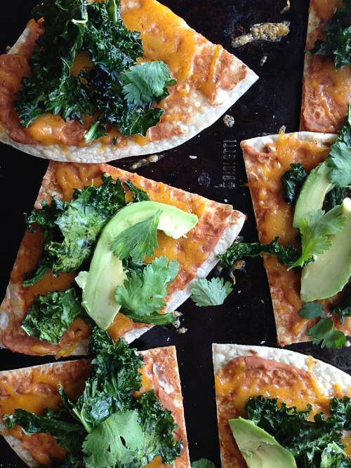 Quick-dinner-tostadas-with-crispy-kale