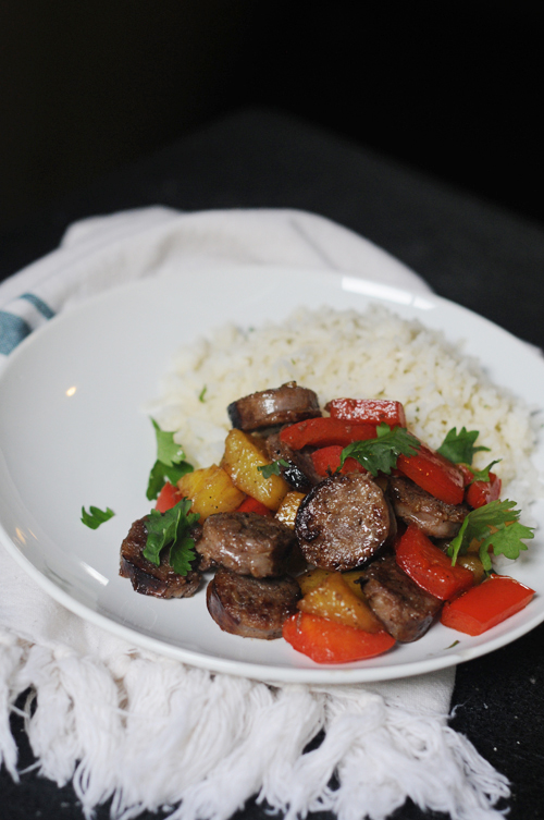 Sweet-and-sour-sausage
