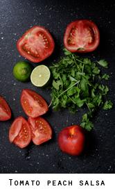 tomato peach salsa
